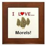 I Love Morels Framed Tile