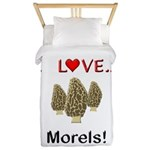 I Love Morels Twin Duvet