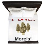 I Love Morels King Duvet