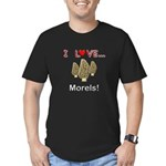 I Love Morels Men's Fitted T-Shirt (dark)