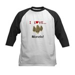 I Love Morels Kids Baseball Jersey