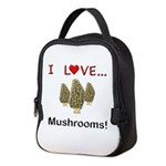 I Love Mushrooms Neoprene Lunch Bag