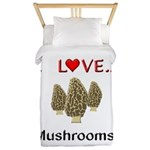 I Love Mushrooms Twin Duvet