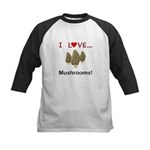 I Love Mushrooms Kids Baseball Jersey