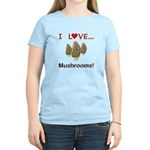 I Love Mushrooms Women's Light T-Shirt
