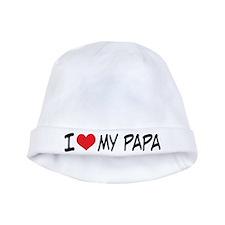 I Heart My Papa baby hat