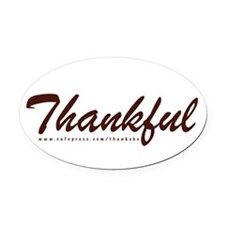 Thankful Oval Car Magnet