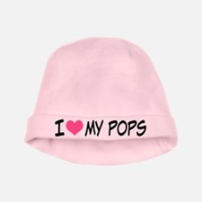 I Heart My Pops baby hat