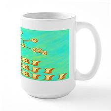 Coffee Molecule/Bkgd Mugs