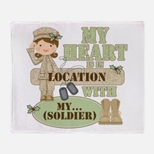 Christmas Soldier Throw Blanket