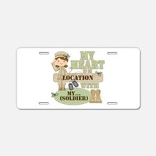 Christmas Soldier Aluminum License Plate