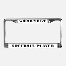 Softball Player License Plate Frame
