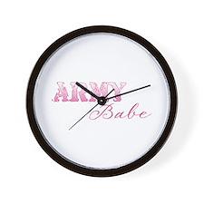 Funny Sexy army girlfriend Wall Clock