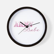 Unique Sexy army girlfriend Wall Clock