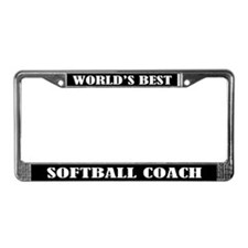 Softball Coach Gift License Plate Frame