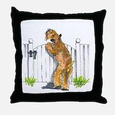 Unique Wheaten terrier Throw Pillow