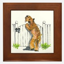 Cute Wheaten terrier Framed Tile