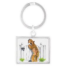 Cute Wheaten terrier Landscape Keychain