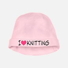 I Heart Knitting baby hat