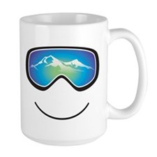 Happy Skier/Boarder Ceramic Mugs