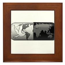 world peace pill Framed Tile