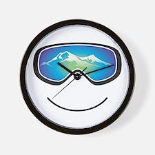Happy Skier/Boarder Wall Clock