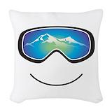 Skiing Woven Pillows