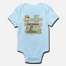 Heart With Soldier Infant Bodysuit