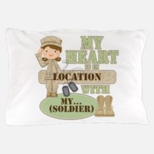 Heart With Soldier Pillow Case