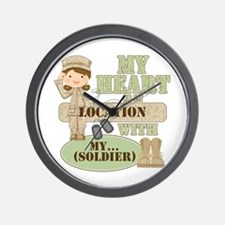 Heart With Soldier Wall Clock