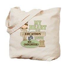 Heart With Soldier Tote Bag
