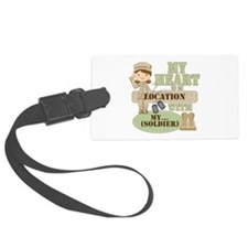 Heart With Soldier Luggage Tag