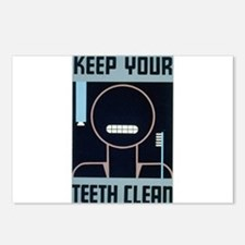 Keep Your Teeth Clean Postcards (Package of 8)