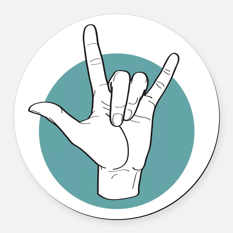 Ily In Sign Language Gifts  Merchandise Ily In Sign Language - Car sign language
