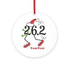 Customize Holiday 26.2 Marathon Ornament (Round)