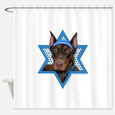 Hanukkah Star of David - Dobie Shower Curtain