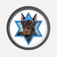 Hanukkah Star of David - Dobie Wall Clock