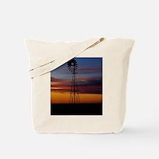 Kansas Windmill at Sunset Tote Bag