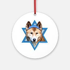 Hanukkah Star of David - Dingo Ornament (Round)