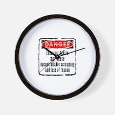 DANGER! Wall Clock