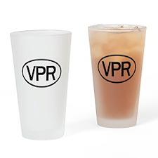 Vaper Euro Sticker Drinking Glass