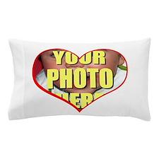 Custom Heart Photo Pillow Case