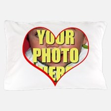Custom Heart Photo Pillow Case