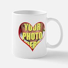 Custom Heart Photo Mugs