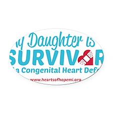 CHD Survivor - Daughter Oval Car Magnet