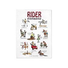 Rider Excuses 5'X7'area Rug