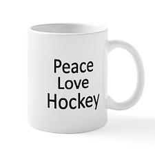 Peace,Love,Hockey Mugs
