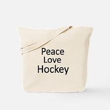 Peace,Love,Hockey Tote Bag