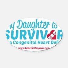 CHD Survivor - Daughter Oval Car Magnet