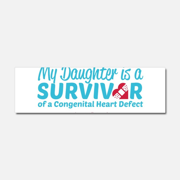 CHD Survivor - Daughter Car Magnet 10 x 3